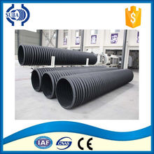 Double wall corrugated plastic pipe extrusion line production machine