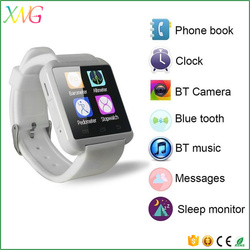 Bluetooth Android Wrist multi-language U8 smart watch mobile phone for sport