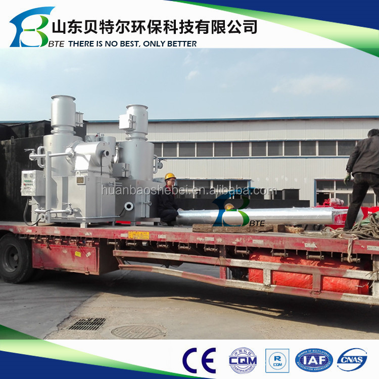10-30kgs/hr. small natural gas fuel incinerator, 3D video guide for operation and installation