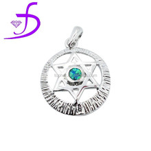 sterling silver handmade pendant israel flag star of david israel star necklace pendant