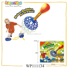 new style flying bubble shooter toy bubble rocket shooting plastic bubble wand