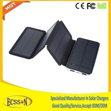 Handy micro usb solar panel power bank 10000mah battery charger mobile 5 4s 4 3g
