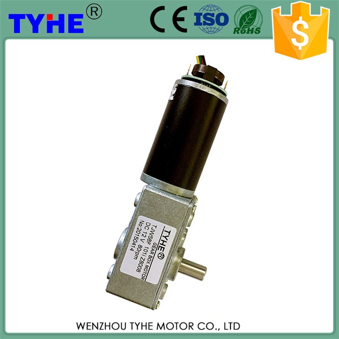 Highly Sfficient China Factor dc 12v worm gear motor