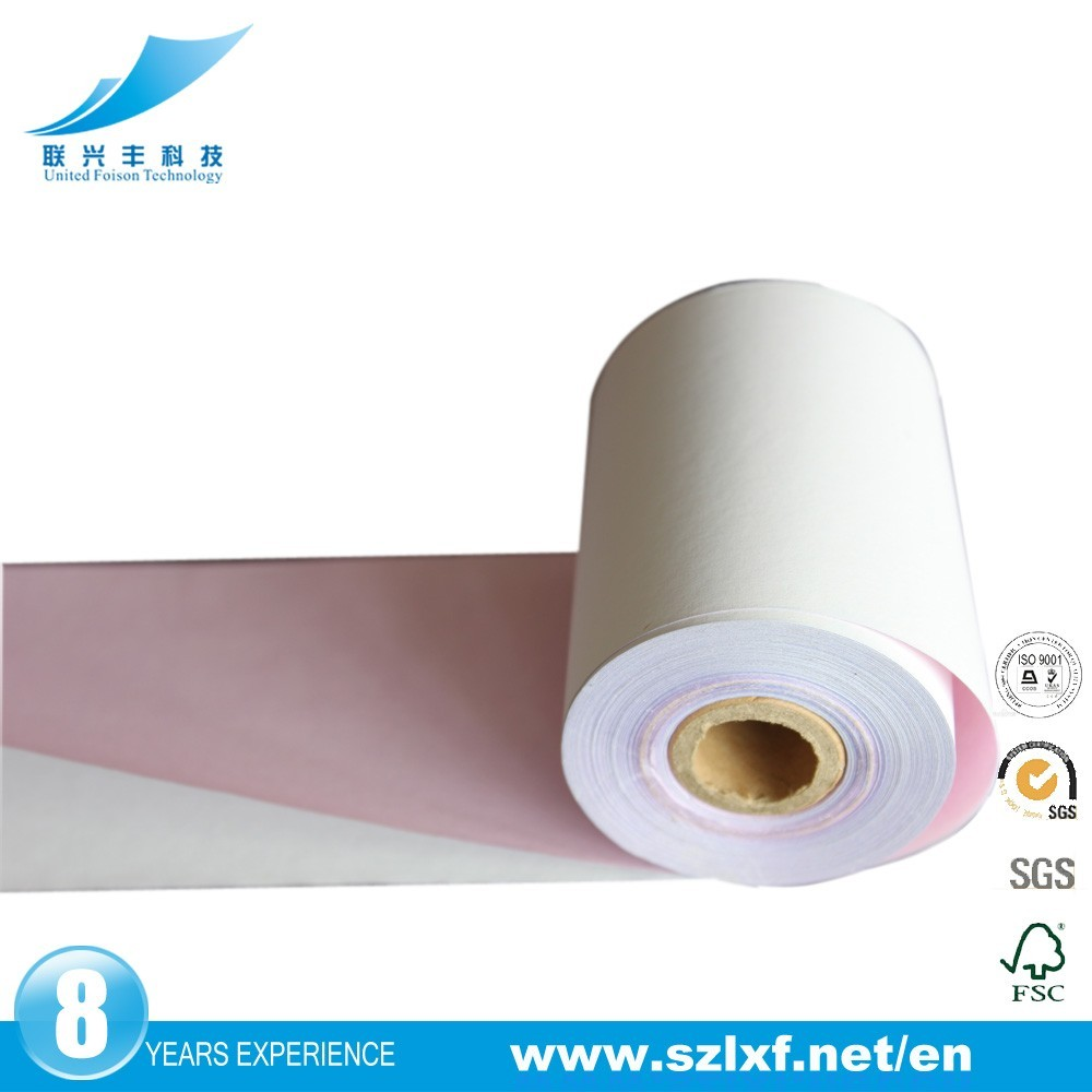 2017 hot best selling United Foison 4-ply continuous carbonless printing paper for printer pos cashier atm