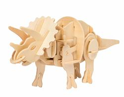 Robotime sound control dinosaurs D430 Mini Triceratops educational toys for kids 3D wooden puzzle for teenagers and adults