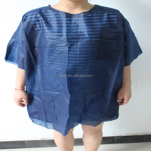 cheap disposable hospital use dark blue short sleeve gowns