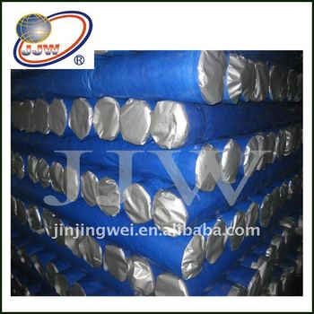 Blue/Silver PE Tarpaulin pe woven fabric for transportation cover
