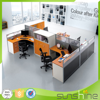 HT-PW34 New arrival Fast Delivery Modular Office Cubicle Partition Workstation