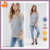 China Product Small Quantity Cutout Soft-touch jersey Top with Dropped shoulders