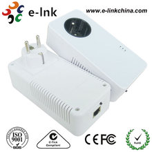 Ethernet 600Mbps Passthrough Homeplug Powerline Adapter