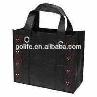 Big metal rings, long handles, promotional non woven shopping bag