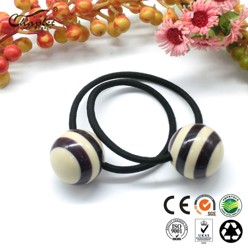 ponytail with ball high-end hair ponytail holder elastic hair bands cellulose acetate