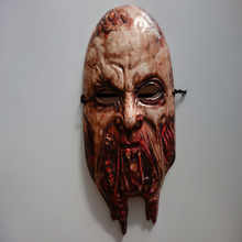 Scary zombie mask plastic face mask for halloween
