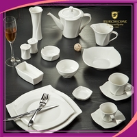 factory direct sales made in china super white embossed porcelain chinaware