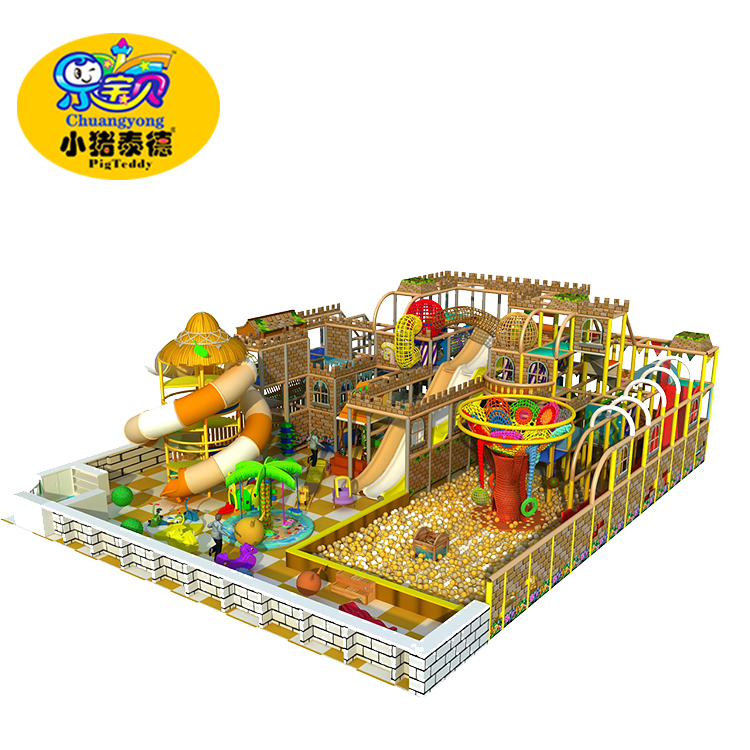 High qulity and reasonable price indoor playground naughty fort with million ball pool