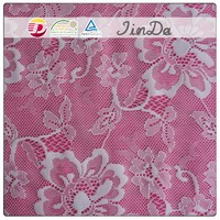 Home decoration embroidery lace drapery fabric for pretty curtain