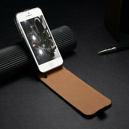 genuine top lambskin leather case for iphone 5