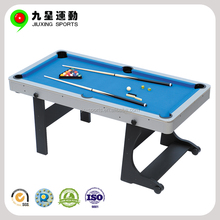 Cheap 6ft/7ft/8ft superior mdf folding 3 cushions billiard table for sale