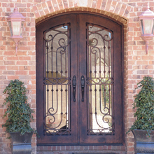 High quality luxury house front entry wrought iron door from china