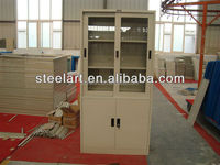 Henan steelart modern steel office furniture 2 swing glass door metal file cabinet / steel file cabinet