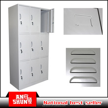AS-030 factory direct supplies 2015 used bathroom gym pre school steel almirah cabinets designs closet locker clothes almirah