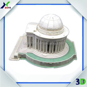 Custom Famous Architecture 3D Puzzle Paper Model by China Factory