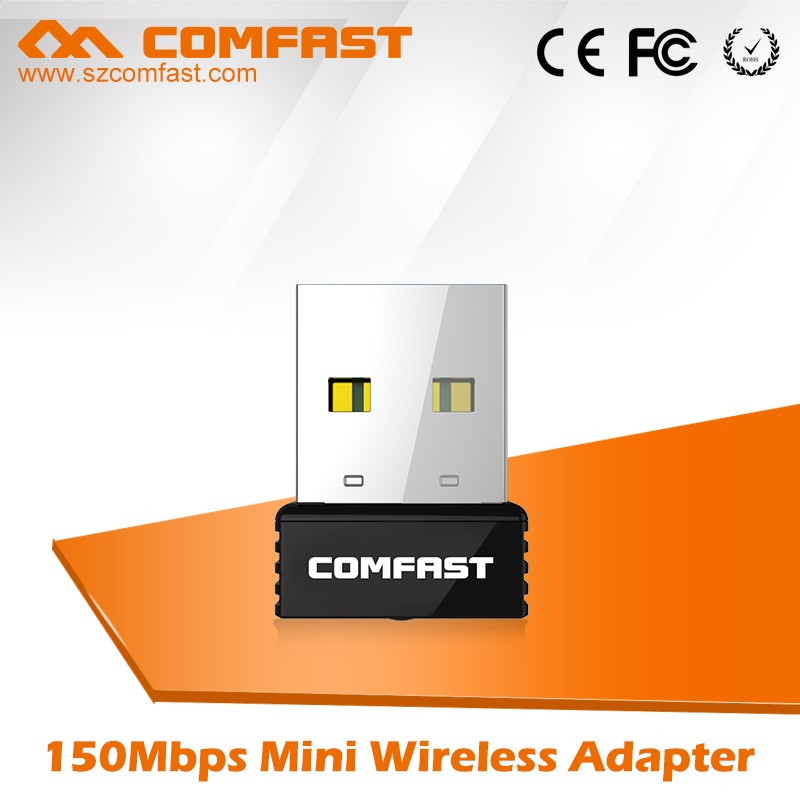 Best selling for Desktop Laptop 192.168.1.1 COMFAST CF-WU712P 150Mbps 2.4Ghz Wirelss Wifi USB Adapter Lan Stick