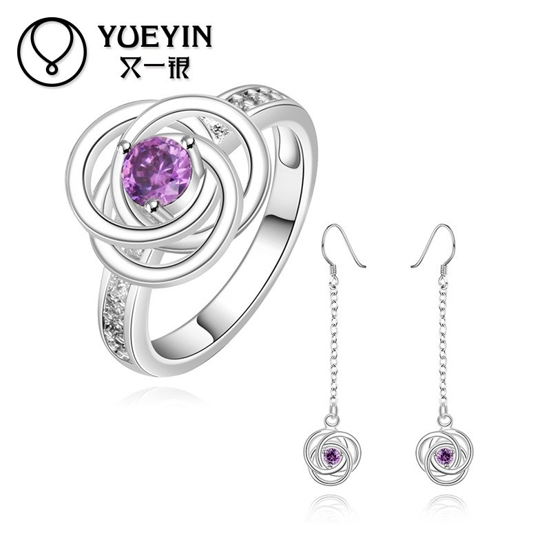 Hot Selling Eco-friendly Various <strong>Styles</strong> Amethyst Best Gift Indonesia Silver Jewelry