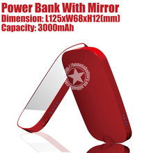 3000mAh Mirror Slim Mobile Power Bank for Mobile Phones Smartphones Made in China