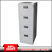 Steel 4 tier storage four drawer vertical laminated filing cabinet