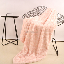 Fashion pattern fake fur throw faux fur blankets