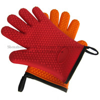 Household sundries- anti-slip oven rubber glove , fancy silicone oven glove, rubber five finger glove