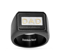 USA Free shipping! Fathers Day gift or birthday gift-Stainless Steel DEAR DAD RING
