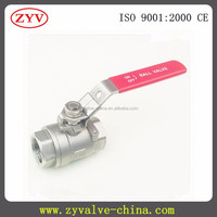 2pc 2000wog screwed stainless steel full port npt female thread male ball valve
