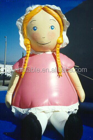 Hot sale inflatable girl cartoon,inflatable girl balloon,girl shaped balloon for sale