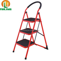 Wide Step Steel Ladder With 2