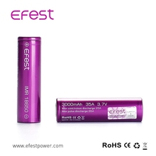 China Facoty! Authentic Purple EFEST IMR 18650 HIGH DRAIN 35A AMP Li-MN Battery 3000mAh
