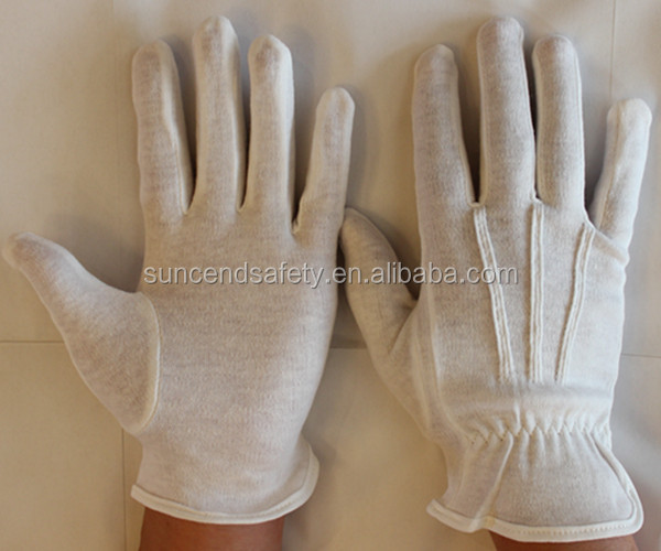 White color full light weight cotton glove