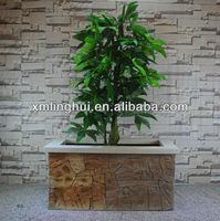 Rock Style Decorative Rectangular Garden Planters And Urns