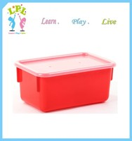 PP plastic storage box with lid super quality red vegetable storage