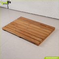 Durable use teak wood bath mat anti-slip for shower waterproof