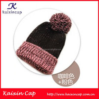 adult animal knitted hat OEM pom ball cap custom logo design Acrylic Beanie