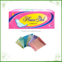 perforated film 240mm day use best selling pure cotton whisper sanitary pads for girl in bulk