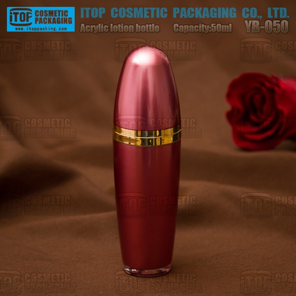 YB-O50 50ml hot-seller color changeable nice bullet shape double layers acrylic packaging bottle