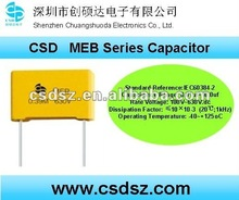 CSD-MEB Series metallized Polyester film Capacitor for Audio MEB 1uf Capacitor