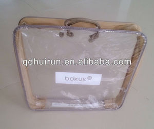 with zipper steel wire clear pvc plastic bag
