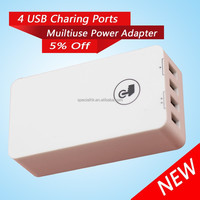 Factory Price 5V 1A 5v 2.1A 4port Micro usb wall charger for iPhone /iPad /Mini iPad