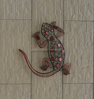 Fujian Anxi wrought iron arts and craft home decoration, metal wall hanging lizard