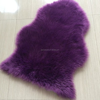 100% polyester long pile faux fur shaggy carpet