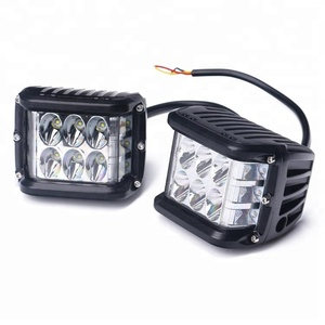 Newest led side shooter amber blue red strobe light 36W truck offroad led work light